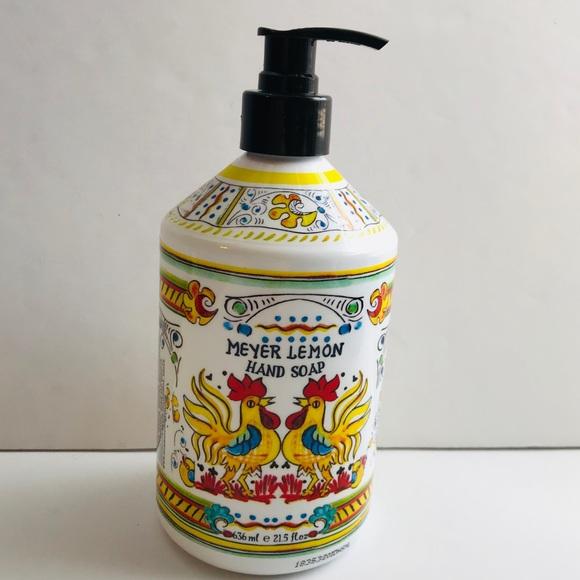 Italian Citron Lemon Kitchen Hand Soap Rooster NWT
